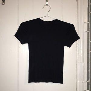 navy blue ribbed square neck brandy melville shirt